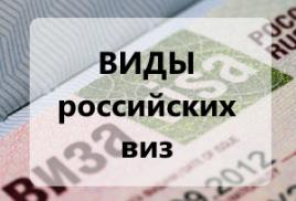 Все виды виз для иностранных граждан.